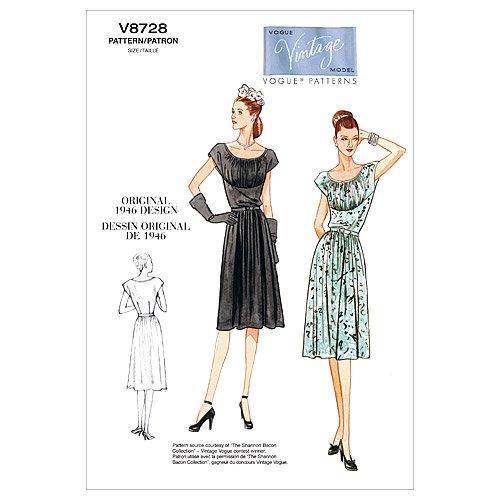Vogue Patterns V8728 Misses' Dress and Belt, Size FF (16-18-20-22)