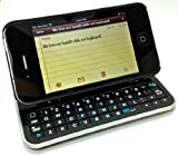 iAccessory BACKLIT, Sliding and Standing Case w/ integrated Bluetooth Keyboard for iPhone 4 & 4s. Ships with iAccessory Gadget Sock