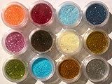 12 Color Glitter Sparkle Powder Nail Art Makeup Body Painting