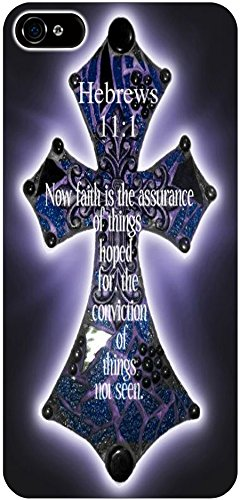 Hebrews 11:1 Now Faith Is The Assurance Of Things Hoped For The Conviction Of Things Not Seen Christian Quote Bible Verses Print Pattern Theme Protective Cover Sleeve Case For Apple Iphone 5 5S 5G front-867918