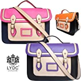 Girly Handbags Ladies Womens Neon Satchel Bag Crossbody Shoulder Bag Black