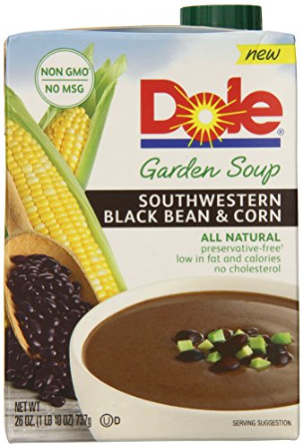 Dole Garden Soup, Southwestern Black Bean and Corn, 26 Ounce (Pack of ...