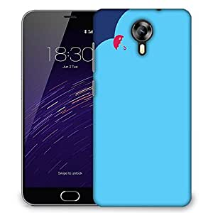 Snoogg Rainbow Color Design Designer Protective Phone Back Case Cover For Meizu M2