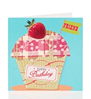 Strawberry Cupcake Birthday Card