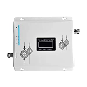 Signal Booster, KKmoon Tri Band Amplifier 900 1800 2100MHz GSM DCS 3G Universal Signal Booster Intelligent Repeater Kit