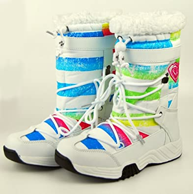 Roxy Terry Boots - White - UK 4