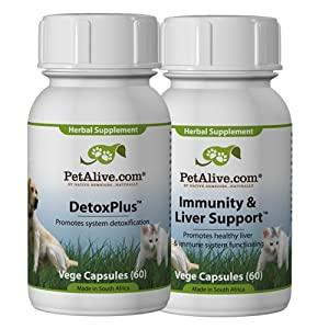 PetAlive Skin & Coat Tonic and Immunity & Liver Support ComboPack (one of each)