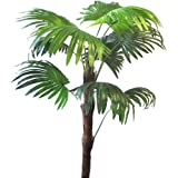 3ft Artificial Chusan Palm Tree - Decorative Plastic Plant for Home or Office