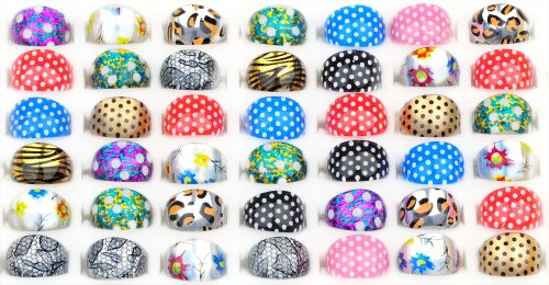 Fashion Lovely Resin Childrens Kid Ring (Dots, Leopard, sun¡­)