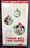 Disney Parks Tinkerbell Lighted Christmas Tree Top Topper Tinker Bell NEW