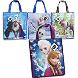 Disney Frozen Tote Bags Reusable Anna Elsa Sven Olaf Princess Grocery , Pack of 4