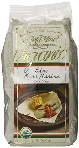 Gold Mine Organic Masa Harina Corn Flour, Blue, 2 Pound (Organic Blue Corn Flour compare prices)