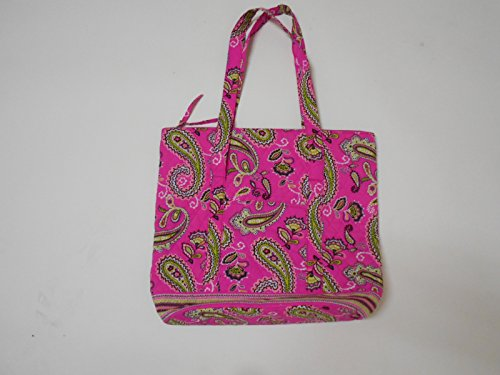 East Coast Quilted Tote Bags Pink Paisley Tall - 1