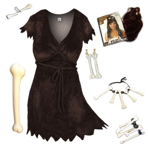 Plus Size Halloween Costume Cave Woman Deluxe Kit Supersize