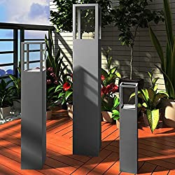 vidaXL Säulen Set 3 tlg grau