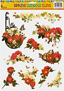 Flowers and Butterflies Window Clings from Good Old Values