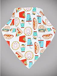 M&Co Baby Novelty Take Away Fast Food Triangle Neckerchief Bandana Style Dribble Bib