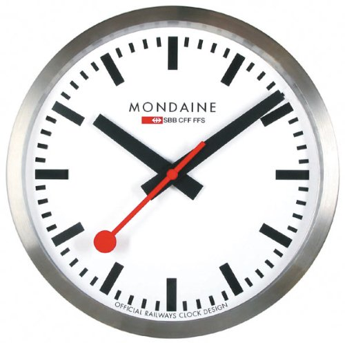Mondaine wall clocks the official swiss railway clock for Train station style wall clock