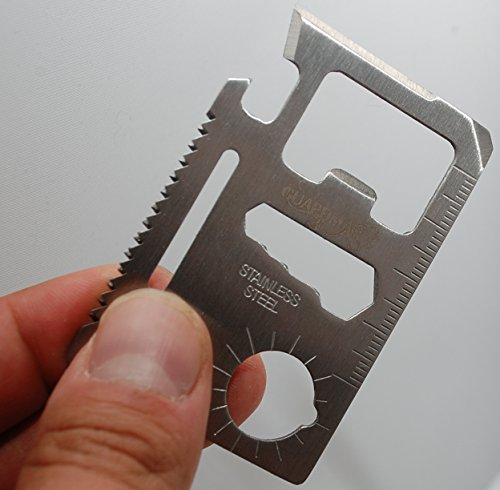 Guardman 11 in 1 Beer Opener Survival Credit Card Tool Fits Perfect in Your Wallet with Knife Blade By Guardman (1)