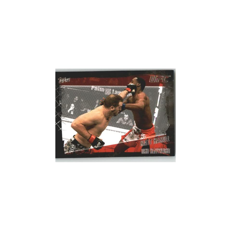 2010 Topps UFC Trading Card # 104 Matt Hamill (Ultimate