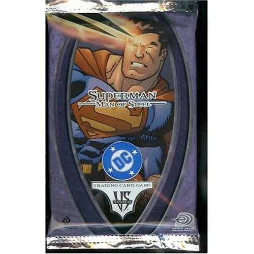 DC VS System Trading Card Game Superman Man of Steel Booster Pack 14 Cards - 1
