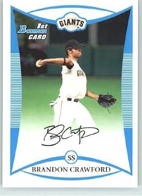 2008 Bowman Draft Prospects # BDPP41 Brandon Crawford DP (Draft Pick - RC - Extended Rookie Card) San Francisco Giants - MLB Baseball Trading Card