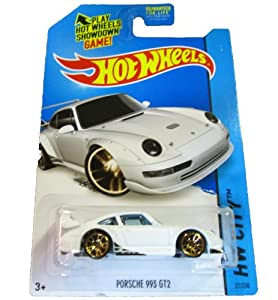 hot wheels 2014 hw city 27 250 night burnerz porsche 993 gt2 white toys games. Black Bedroom Furniture Sets. Home Design Ideas
