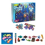 Melissa & Doug Under the Sea Floor Puzzle with Coral Reef Toob Set of 3 Items