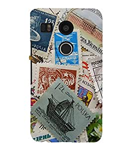 printtech Letter Stamps Back Case Cover for LG Google Nexus 5X / LG Google Nexus 5X (2nd Gen)