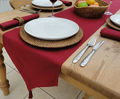 "14x98"" Wine Table Runner With Tassels (8 seater)"
