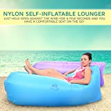 Black Widow Color Self Inflatable Beach and Pool Lounger by EazeUp