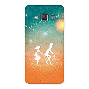 Cute Cycle Couple Dream Multicolor Back Case Cover for Galaxy A3