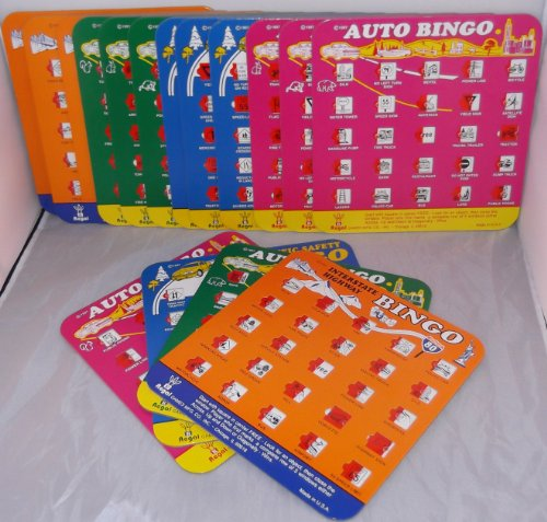 16 Card Backseat Bingo Super Bundle - Travel Auto Roadtrip Vacation I SPY Bingo Game (Travel Auto Bingo compare prices)