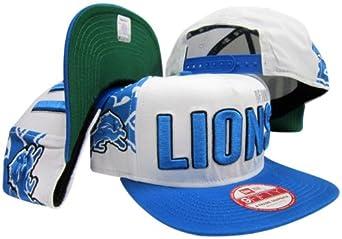 Detroit Lions Big Side Two Tone Adjustable Snapback Hat Cap by New Era