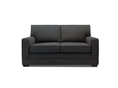 JAY-BE Modern Pocket Sprung Sofa Bed in Luxury Fabric - Charcoal