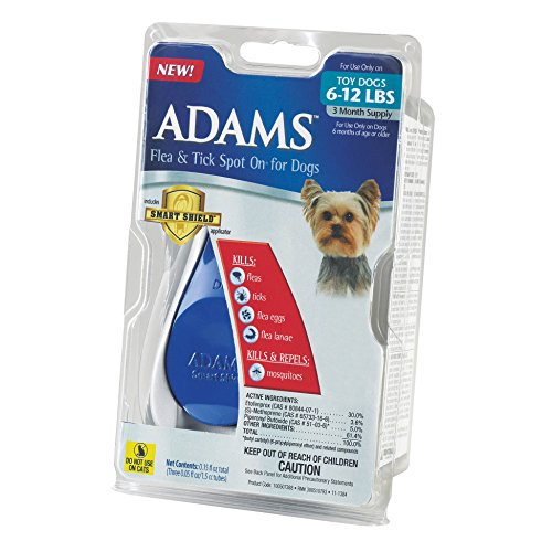 Adams Flea And Tick Spot On For Dogs Toy Dogs 6 12 Pounds