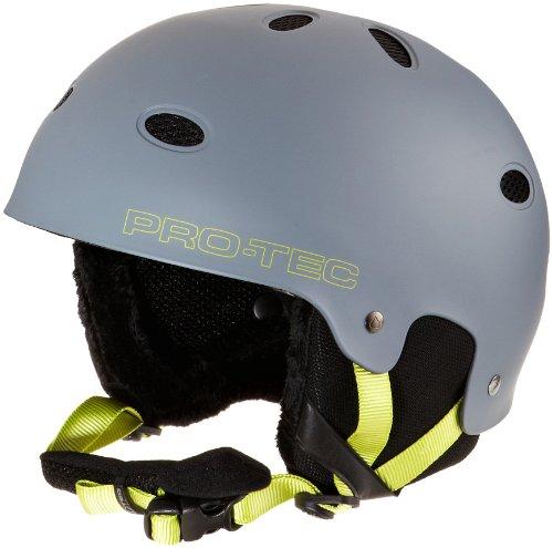 Pro-Tec B2 Snow Helmet, Matte Grey Citrus, Small