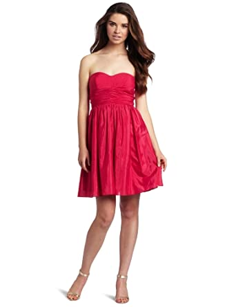 Jessica Simpson Women's Bright Rose Strapless Dress, Bright Rose, 2
