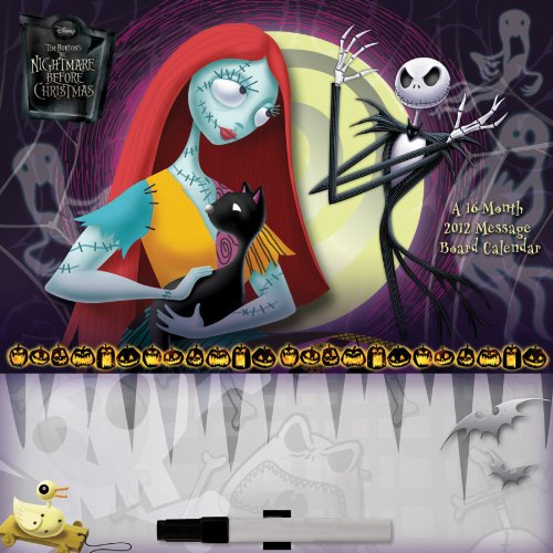 Nightmare Before Christmas 2012 Message Board Wall Calendar
