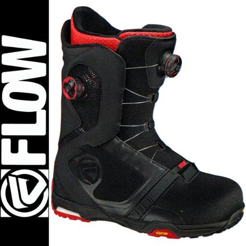 13-14 FLOW フロー スノーボード ブーツ TYLON BOA FOCUS タイロン ボア フォーカス BLACK/RED ブラック/レッド / ダブルボア 27.0cm