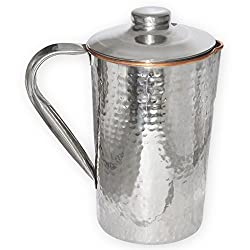Stainless Steel Copper Dimple Jug with Lid