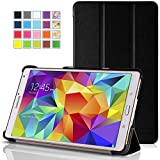 MoKo Samsung Galaxy Tab S 8.4 Case - Ultra Slim Lightweight Smart-shell Stand Cover Case for Samsung Galaxy Tab S 8.4 Inch Android Tablet, BLACK (Will NOT Fit tab pro 8.4)