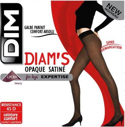 Dim Diam s Opaque Satiné - Collants - 45 deniers - Femme - Noir - 4 e2d32248dbd