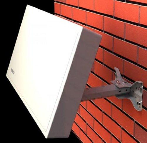 HUMAX Digital H38D2 FLAT Spiegel mit Twin LNB (2 Teilnehmer) weiß