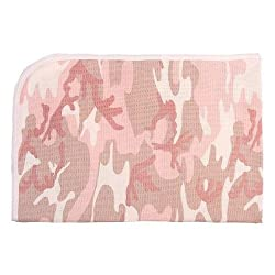 Infant Pink Camo Receiving Blanket