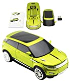Wireless 2.4GHZ mouse USB 2.0 car style with LED light (Green)