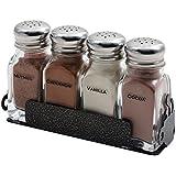Espresso Supply 05102 Labeled 5-Piece Shaker & Rack - Set