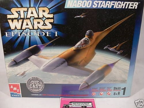 ERTL Star Wars Episode I Naboo Starfighter Die Cast Model Kit 1:48 (Die Cast Star Wars Kit compare prices)