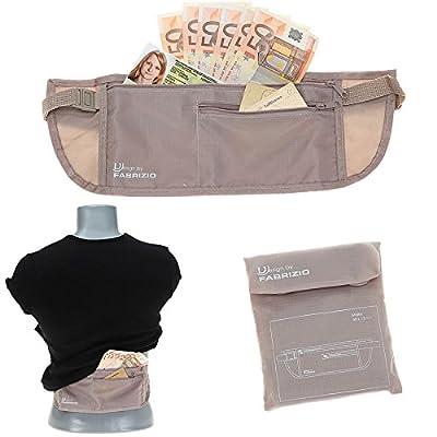 MONEYBELT Geldgürtel Hüfttasche Geheimtasche Security Bag Dokumententasche BEIGE
