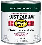 Rust-Oleum 7738730 1/2-Pint 8-Ounce Protective Enamel, Gloss Hunter Green